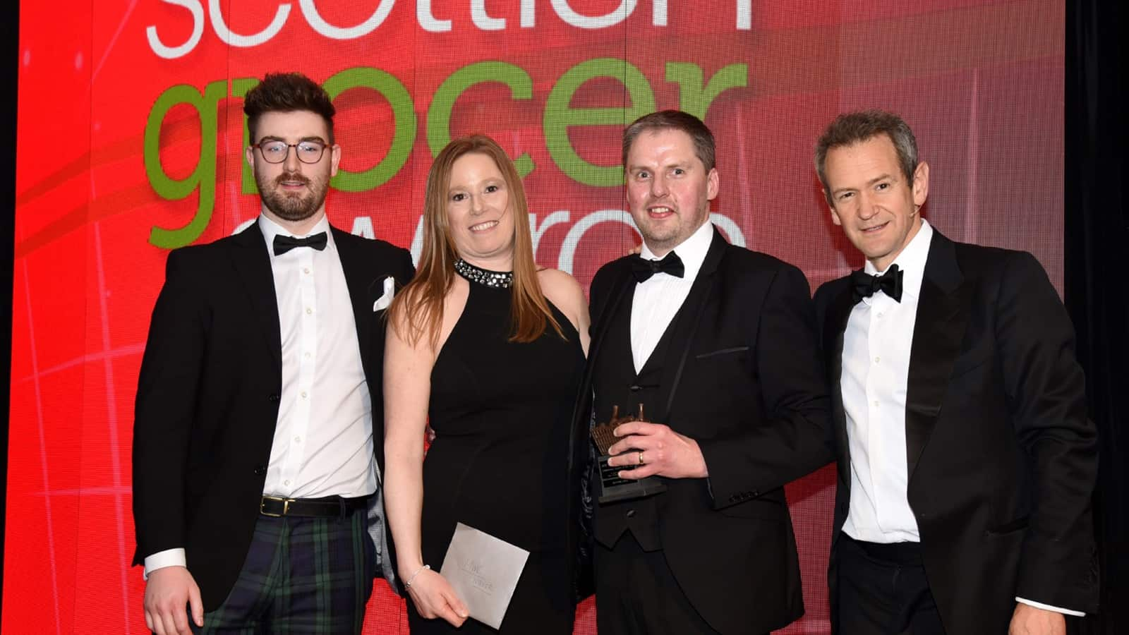 Chris Cobb from Keystore Cults - Confectionery Retailer Of The Year and also Highly Commended for Tobacco Retailer Of the Year.